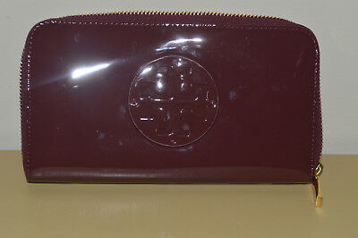 New Tory Burch Shiraz Mercer Zip Around Continental Leather Wallet $198