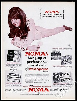 1969 Noma Christmas lights 4 light set photo vintage print ad