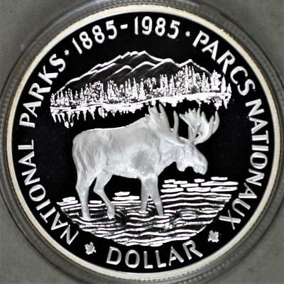 Canada 1985 National Parks Centennial Dollar Proof Silver Coin