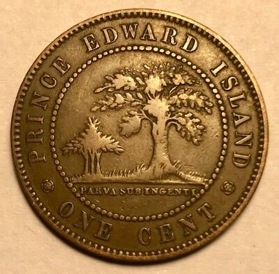 CANADA - Prince Edward Island - Queen Victoria - One Cent 1871 - FREE SHIPPING!