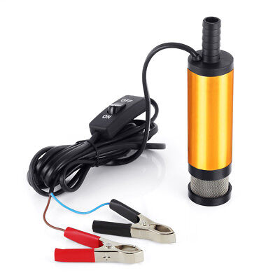 12V Electric Submersible Water Pump Oil Fuel Transfer Refueling Stainless CM
