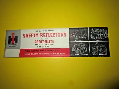 Vintage IH (Advertising) Safety Reflectors Made W/ Scotchlite Sheeting  NOS  USA