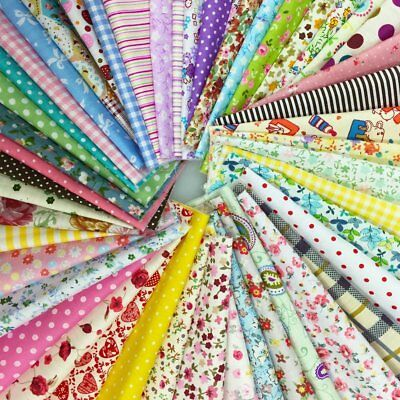 """Handmade Quilting 8-1/2"""" Charm Squares - Cottons - 60+ Pieces"""