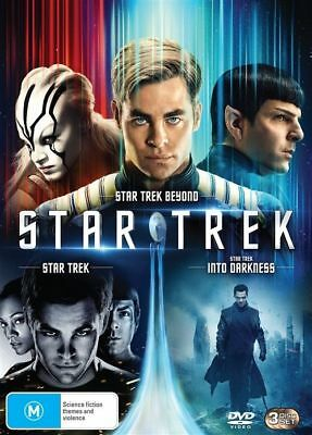 Star Trek / Star Trek - Into Darkness / Star Trek Beyond (DVD, 2016, 3-Disc Set)