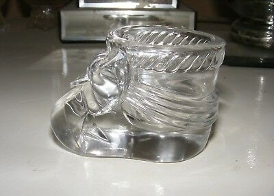 ** Antique Vintage * Clear Glass or Crystal * Baby Booty * Bow * Salt Cellar **