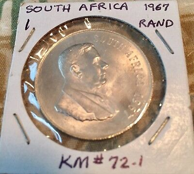 Silver 1967 South Africa 1 Rand