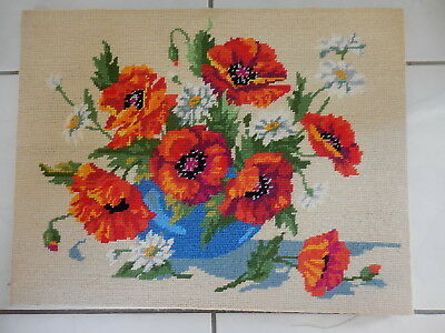 Tapestry Completed And On Frame Royal Paris Poppies 132 36