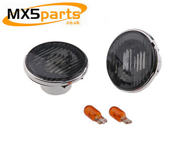 MX5 Smoked Side Repeaters Indicators Chrome Trim Mazda MX-5 Mk1 Mk2 Mk3 89>2015