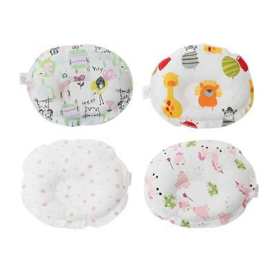 Newborn Cute Printed Pillow Infant Baby Support Cushion Pad Prevent Flat Head LC