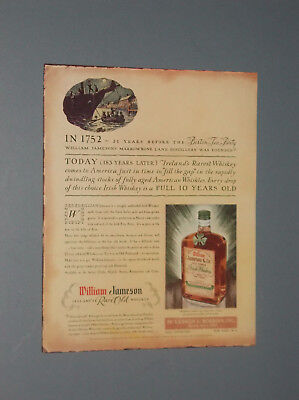 2 1934-1935 William Jameson & Co. Old Dublin Irish Whiskey Ad