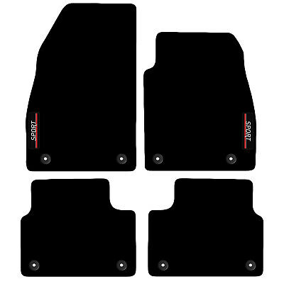 Tailored Carpet Car Floor Mats with logo FOR Vauxhall Insignia 2013 to 2017 8cli