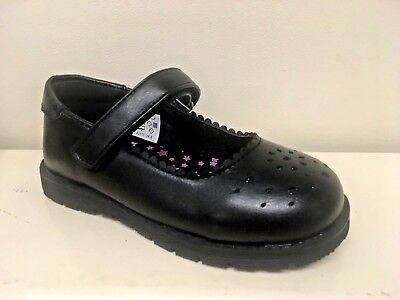 New Girls Chatterbox Black School Formal Shoes With Strap Size 6 7 8 9 10 11 12
