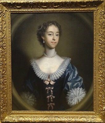 Fine Large 18th Century Portrait of Lady Coates of Helperby Antique Oil Painting