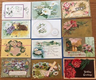 Large Lot Floral Postcards (46) - Variety of Flowers