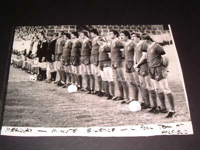 Liverpool Fc Legend Bill Shankly Death 1981 Anfield Minute Silence Press Photo
