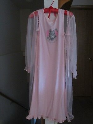Rare Warner Bros. New Peignoir Set 1999 Girl Size 12 Pink Toto Gown Wizard of Oz
