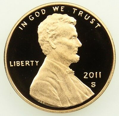 2011 S Deep Cameo Proof Lincoln Shield Cent Penny (B02)