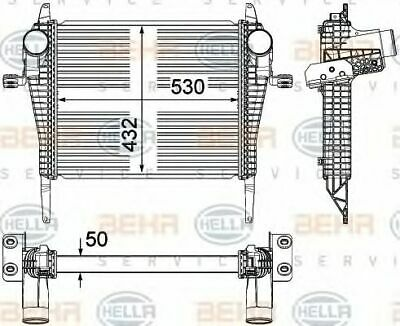 Hella AIR CONDITIONING INTERCOOLER CHARGER 8ML 8ML376714-261 OE 504289364