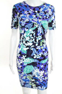 823ef337757 Peter Pilotto For Target Multi Color Floral Short Sleeve Dress Size Extra  Small
