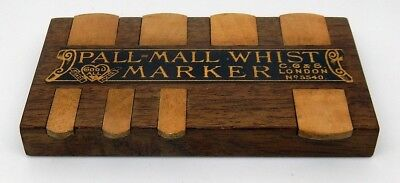 Antique English Wooden Pall Mall Whist Marker C G & S London England