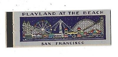 Vintage Matchbook Cover PLAYLAND AT THE BEACH San Francisco CA full length #175