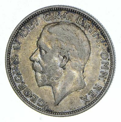 SILVER - Roughly Size of Half Dollar - 1936 Great Britain 1 Florin 11.2g *438
