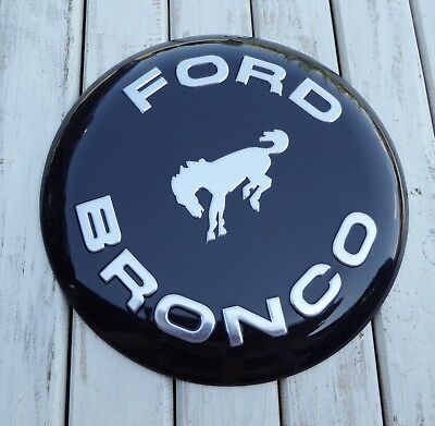 FORD BRONCO Vintage Button Style Truck Garage Shop Tin METAL Wall SIGN