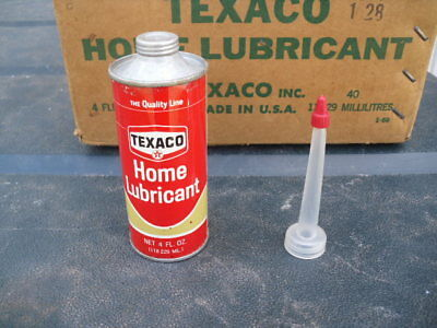 Texaco Home Lubricant can never opened with unused stem great shape