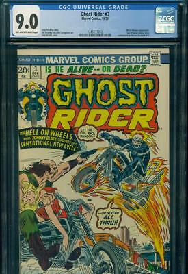 GHOST RIDER #3 CGC 9.0 VF/NM SON OF SATAN Witch Woman MARVEL COMICS Bronze Age