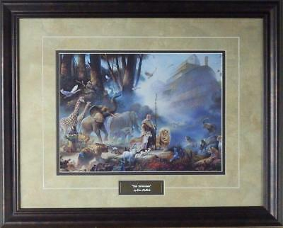 "Tom Dubois ""The Promise"" Framed Noah's Ark Print 20.75"" x 16.75"""