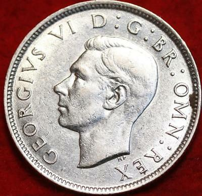 Uncirculated 1942 Great Britain Two Shilling Silver Foreign Coin