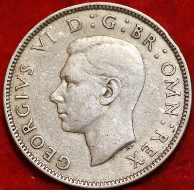 1943 Great Britain Two Shilling Silver Foreign Coin