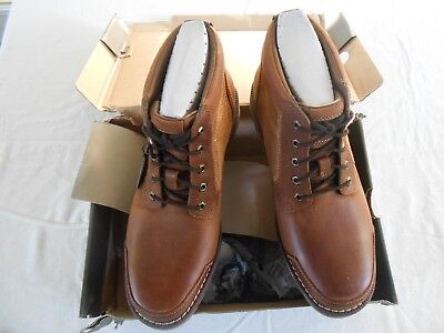 NEW MENS TIMBERLAND LARCHMONT CHUKKA LEATHER BOOTS Brown Size 9.5