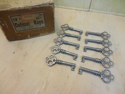Antique Corbin Cabinet Skeleton Keys #4606 (Lot Of 10) Excellent Nos