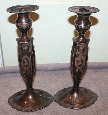 Vintage Marcus & Co. Sterling Silver Candle Sticks Brooklyn Alba Estate