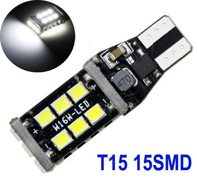 2x BRIGHTEST T10 CAR BULBS LED ERROR FREE CANBUS 15 SMD W5W 501 WHITE SIDE LIGHT