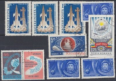 143) Romania 1961 / 1965   Space    Used Selection  Perfect !!