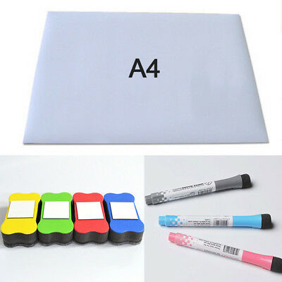 A4 Sost Fridge Magnetic Writing Whiteboard Memorandum Reminder Board Pen Eraser