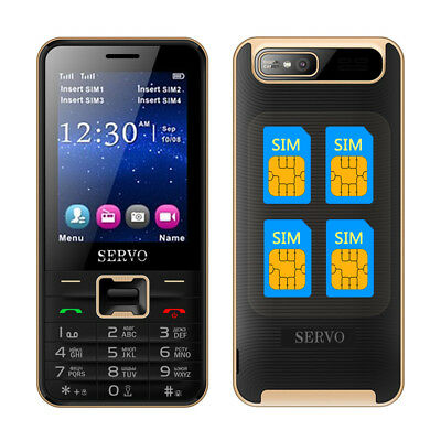 SERVO V8100 2.8'' HD 1800mAh 4 SIM Card Quad Standby Téléphone Mobile Flashlight