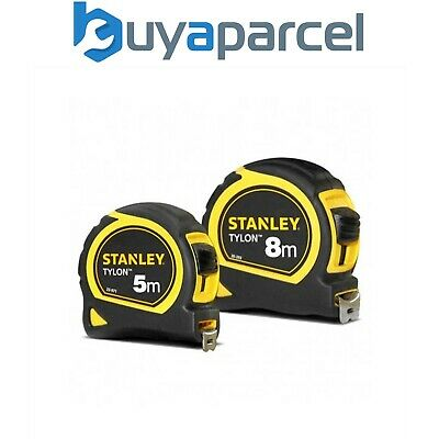 Stanley 8m and 5m Tape Measures Tylon Coated Blade 26ft STA130656 16ft STA130696