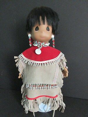 1985 Precious Moments Indian Doll-Miakoda Power Of The Moon Apache-New In Box