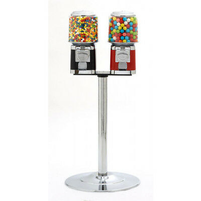 Chrome Pipe Stand For 2 x Coin Operated Sweet Vending Machine (Double Head)