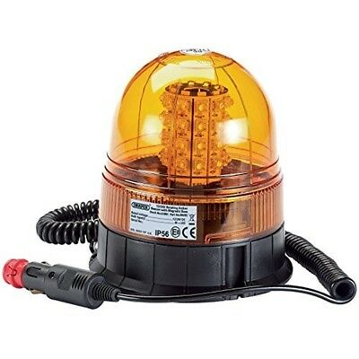 Draper 63881 12/24v Magnetic Base Rotating LED Beacon - 1224v Light