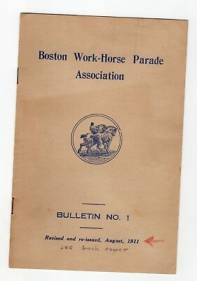 1911 Boston Work-Horse Parade Association Bulletin