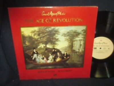 """Beethoven-Schubert""""Great Ages of Music:The AGe of Revolution""""Double LP"""