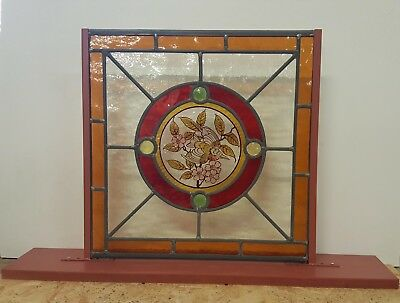 Stained Glass Hand-Painted Bird Center With Raised Jewels - Free Standing Base