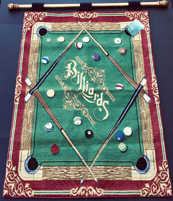 Billiards Pool Table Tapestry Wall Hanging