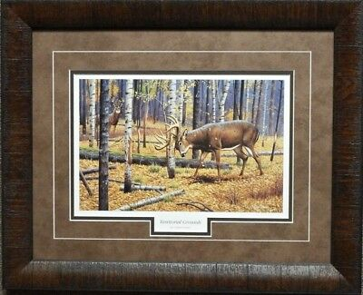 Cynthie Fisher Territorial Grounds Buck Deer Print-Framed  21 x 17