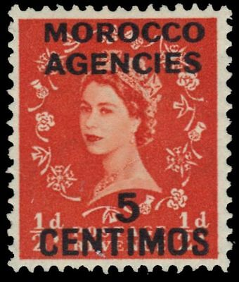 BRITISH OFFICES in MOROCCO 105 (SG187) - Queen Elizabeth II (pa91420)