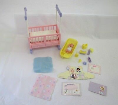 Mattel Pregnant Barbie Doll Midge HAPPY FAMILY Infant Nikki Dollhouse NURSERY